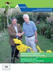 Téléchargez le journal Pic Vert N°98 - Association Pic-Vert