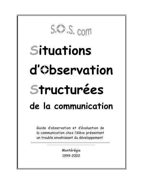 Situations d'observation structurées de la communication