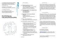 Berufsfeldtagung Informationswissenschaften - Fachbereich ...