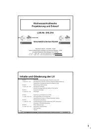 Block 1 - Institut für Wasserwirtschaft, Hydrologie und konstruktiven ...