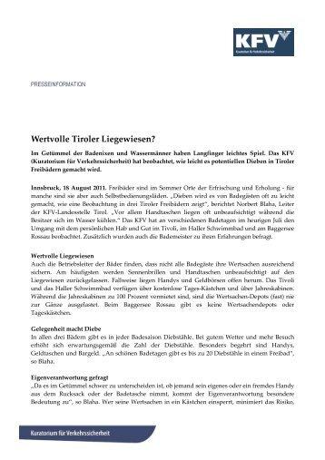 Wertvolle Tiroler Liegewiesen?