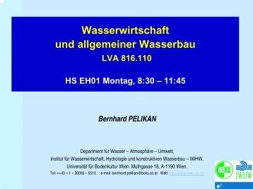 LVA 816 310 WAWI und allg. WABAU - Institut für Wasserwirtschaft ...