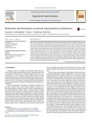 Realization and elimination in rational representations of behaviors