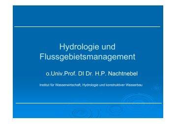 NA Modelle – Einheitsganglinie - Institut für Wasserwirtschaft ...
