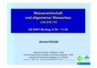 Wasserwirtschaft und allgemeiner Wasserbau - Institut für ...