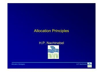 Allocation Principles