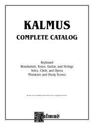 2007 Kalmus Catalog - Alfred