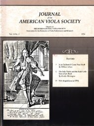 Journal of the American Viola Society Volume 10 No. 2, 1994