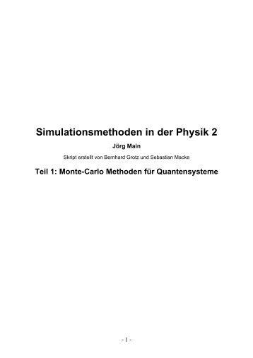 Monte-Carlo Methoden für Quantensysteme