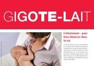 L'allaitement – pour bien démarrer dans la vie - Suisse Balance