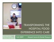 TRANSFORMING THE HOSPITAL FOOD HOSPITAL FOOD ...