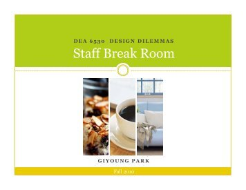 Staff Break Room - International Workspace Studies Program ...