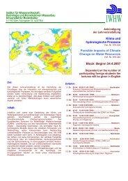 Wind - Institut für Wasserwirtschaft, Hydrologie und konstruktiven ...