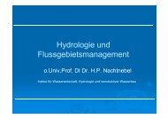 Hydrologie und Flussgebietsmanagement - Institut für ...