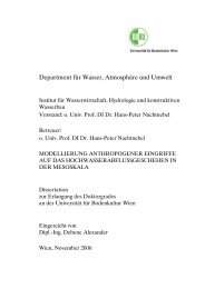 Department für Wasser, Atmosphäre und Umwelt - Institut für ...
