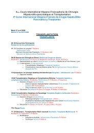 4me Cours International Hispano Francophone de Chirurgie
