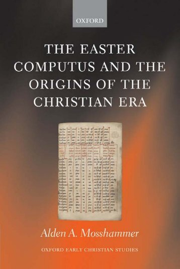 The Easter Computus and the Origins of the Christian Era