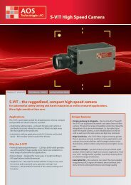 S-VIT High Speed Camera - AOS Technologies AG