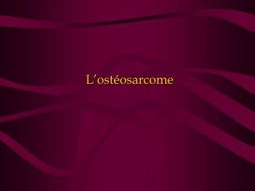 la pathogenèse de l'ostéosarcome - AERIO