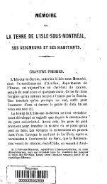Memoire sur la terre de l'Isle-sous-Montreal, ses seigneurs et ses ...