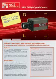 S-PRI F1 High Speed Camera - AOS Technologies AG