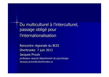 Présentation de Jacques Proulx