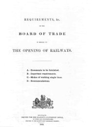 board of trade the opening of railways. - The Railways Archive
