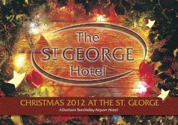 Christmas 2012 brochure - St George Hotel