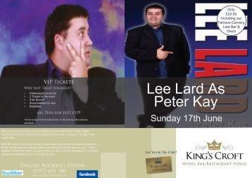 Lee Lard As Peter Kay
