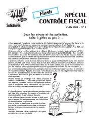 SPÉCIAL CONTRÔLE FISCAL - Solidaires Finances publiques