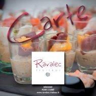 Notre carte des menus - Ravalec Traiteur