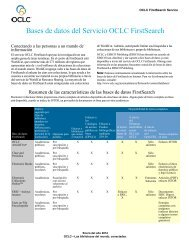 Bases de datos del Servicio OCLC FirstSearch