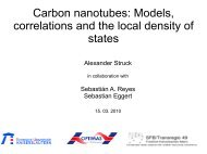 Carbon nanotubes: Models, correlations and the local density of states