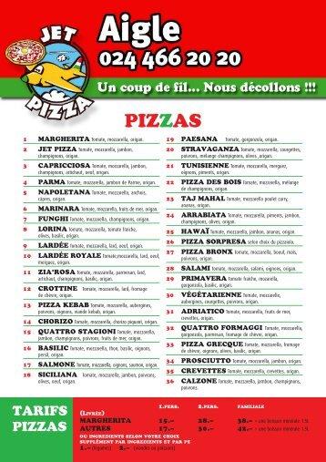 PIZZAS - Jet Pizza