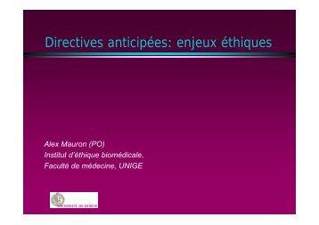 Présentation du Professeur Alexandre Mauron