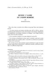 BOUNFOUR, Abdellah, « Hemmu u Namir ou l'Œdipe berbère