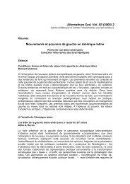 Mouvements et pouvoirs de gauche en Amérique latine - CETRI