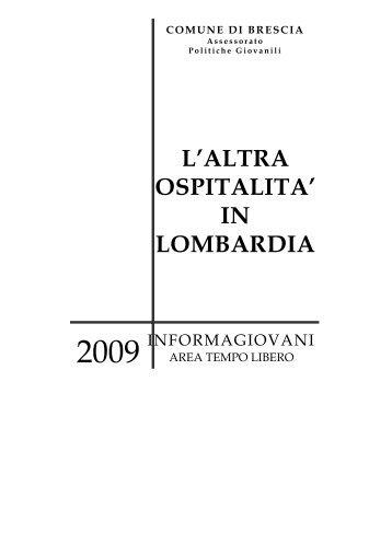 L'ALTRA OSPITALITA' IN LOMBARDIA - Comune di Brescia