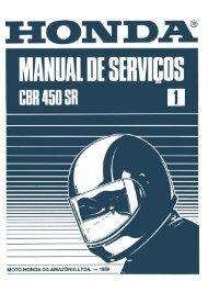 Manual de Serviços da CBR 450 SR - Moto ao Xtremo