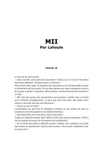 MII Episode 18 - Rêves de femme