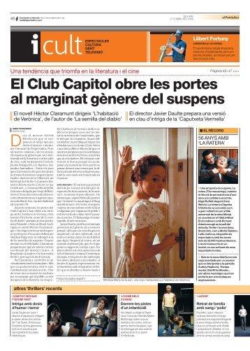 El Club Capitol obre les portes al marginat gènere del suspens