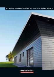 des maisons personnalisees avec des profils de façades werzalit.