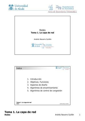 Tema 1. La capa de red - it/aut/UAH