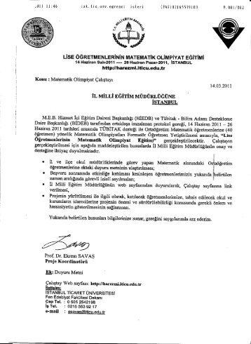 k..! - İstanbul İl Milli Eğitim Müdürlüğü - Milli Eğitim Bakanlığı