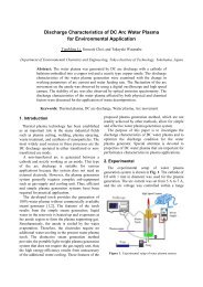Discharge Characteristics of DC Arc Water Plasma for - ISPC 20 ...