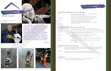 Gérard POIRIER Curriculum VITAE - circonflexe