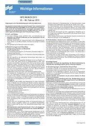 Wichtige Hinweise / Merkblaetter - Ispo