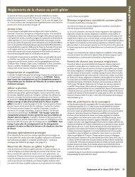 2013 Résumé des règlements de la chasse - petit gibier - Ontario.ca