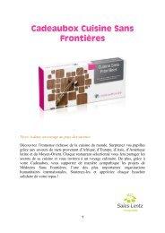 Cadeaubox Cuisine Sans Frontières - Sales-Lentz