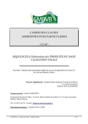 CCAP - SMBVB, Syndicat Mixte du Bassin Versant de la Bièvre